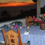 Anniversary Table with sunset