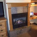 thermostatically controlled fireplace as well as a room furnace/AC if needed