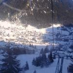 View of the village from the gondola