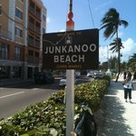 Junkanoo Beach sign