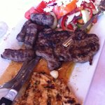 The mixed grill combo platter
