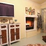 """Arbor Cottage's Screen Porch with 42"""" TV and Fireplace"""