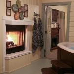 Enjoy a Fire at Arbor Cottage