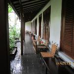  The corridor outside our rooms where we had our breakfast.