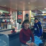  the boys enjoying ice cream at the soda fountain