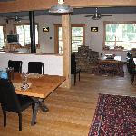 Inside great room, Rugged Point Lodge