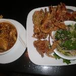 Tom Yum--Fried soft shell crab with green mango salad
