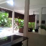  Looking across the villa from the kitchen