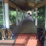Inside the hotel compound