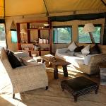  the lounge at Zebra Plains Camp