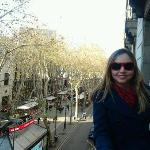 a great view from Las Ramblas