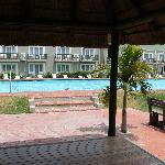  The hotel pool area