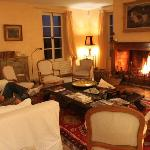 Large Family Room, they always had a fire going!
