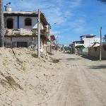 the street just along the beach