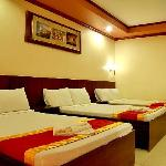 Room with 3 double beds