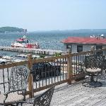  deck overlooking marina and seaway