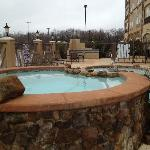 Relax after a long day in our outdoor heated pool and hot tub.