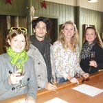 Browen, Martijn, Anne-Claire & Jana at Larson Family Tasting Room