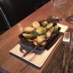 brussel sprouts with hazelnuts ($6)
