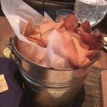  bucket of chips that comes with the burger