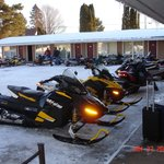 Snowmobile directly to your room