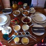 the breakfast table - before the actual, proper breakfast arrived! (I usually never take picture
