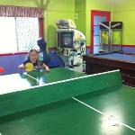 Thank goodness for the games room - with all that rain - we spent a lot of time in the awesome m