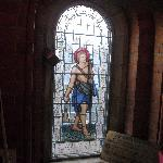  one of the stained glass windows in the dining room