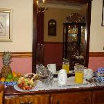 Although there is an option of a fresh fruit platter for breakfast there is still a large bowl o