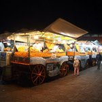 One of the many vendors in Place Jemaa el Fna