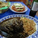 mole poblano and tinga poblano