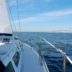 Sailing toward the Bay Bridge