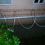  barbed wire around the hotel - take that as a sign