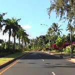 The drive up to Lei Lei's