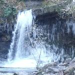Semi frozen waterfalls within the vicinity!