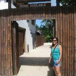 At the front of Pito Huts