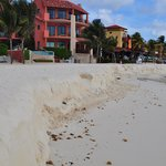 beach erosion along the hotel strip
