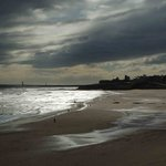 Dramatic, wild, wide open spaces. Tynemouth beach.