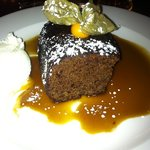 sticky toffee pudding with butterscotch sauce - divine