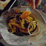  The Chaya pasta dish. My husband was hungry and it tasted so good so he had two plates!