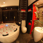  bathroom with 2-person jacuzzi