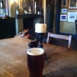 a pint and an open fire