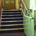 stairs to reception from ground floor corridor