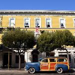 The San Remo Hotel and it's iconic '47 Ford Woodie.