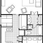  1 bedroom villas floor plans