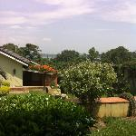 View of Lake Victoria from Bethany House, Entebbe, Uganda