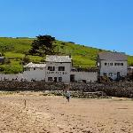 Pilchard Inn from beach