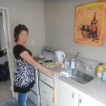 The kitchen in the room