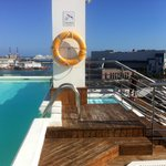Rooftop pool with rooftop bar. Nice atmosphere.