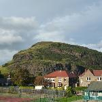 View of Arthur's Seat from bedroom window